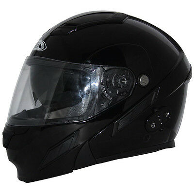 ZOX Brigade SVS Electric Double Shield Solid Snow Helmet Black LARGE
