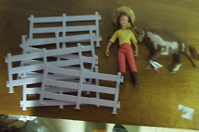 Breyer Horse & Girl Figure with white fence