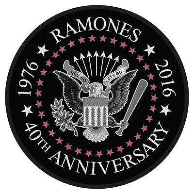 Official Licensed - Ramones - 40Th Anniversary Sew On Patch Punk