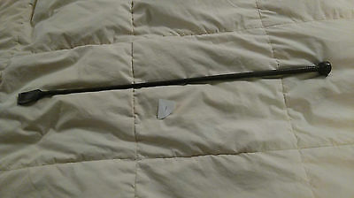 Vintage brown leather riding crop made by Swaine Adeney Brigg for Moss Bros rare