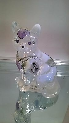 Fenton CAT French Opalescent HP Lavender Spring Petals 5165 ON