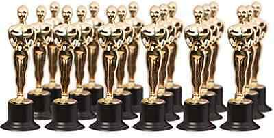 "Awards Party Favor Trophies Oscar Gold Award 6"" Statues (6 Pack) Celebration NEW"