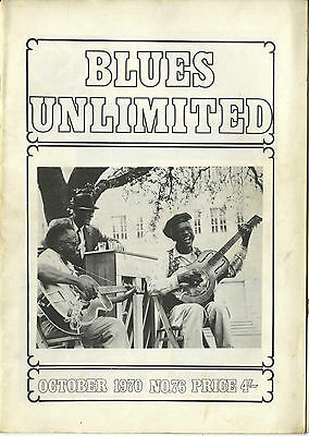 BLUES UNLIMITED No 76 October 1970 Mojo Burford Blind Boy Fuller Harmonica Fats