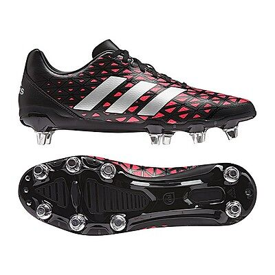 adidas Kakari SG Black Shock Red Rugby Boots Sizes UK 8 - 13  AQ2045