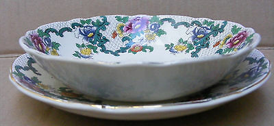 Royal Cauldron Bowl With Saucer In The Victoria (Floradora) Pattern C.1930 - 62