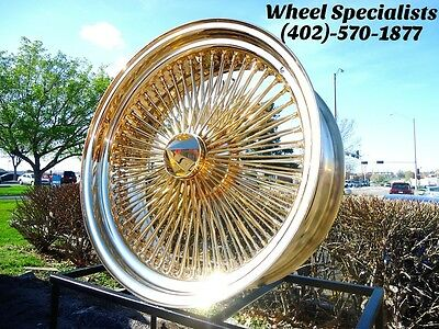 22 Inch All Gold 150 Spoke Dayton Style Spoke Wire Wheels Knockoff New Set 4 2 899 00 Picclick