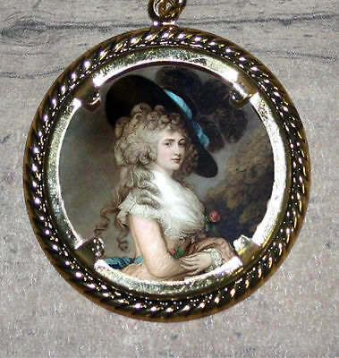 GEORGIANA Duchess of Devonshire Art Large Ornament Frame Pendant 4 Necklace