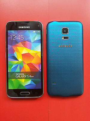 Samsung Galaxy S5 mini in Blau Handy DUMMY Attrappe - Requisit, Präsentation