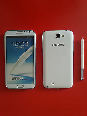 Samsung Galaxy Note II in Weiß Handy DUMMY Attrappe - Requisit, Präsentation