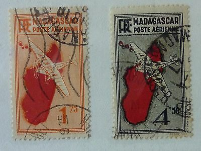 Madagascar  --  Sg 158 & 164  - Used  Stamps - 1935 Air