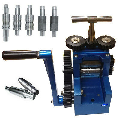 COMBINATION ROLLING MILL  80 mm With 7 ROLLERS ROLLS SHEET METAL JEWELRY TOOL
