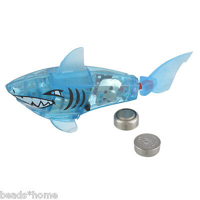 Funny Battery Powered Robot Fish Shark Electronic Fish Toy Lighting Swimming