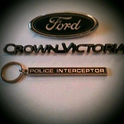 Police Interceptor emblem keychain(only)