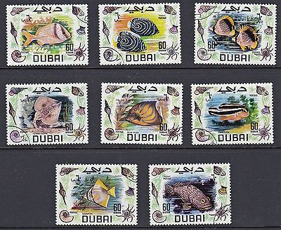 Dubai - 101-107 - Set of 8 Fish & Sea Life - 1969  - B6339