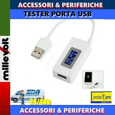 Tester Di Capacita' Usb Rilevatore Di Corrente Usb Display Lcd