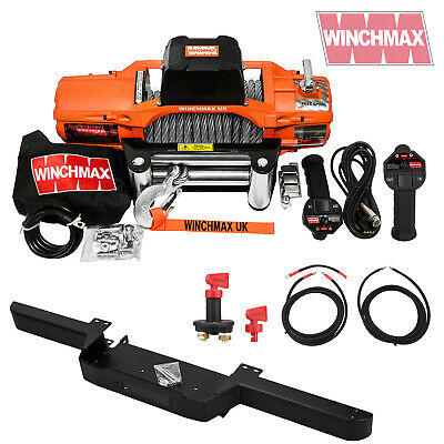 LAND ROVER DEFENDER 13500lb WINCHMAX SL WINCH + BUMPER COMBO KIT