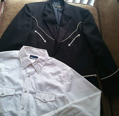 Scully Western Sportcoat, Rockabilly,size 40 med/large, plus bonus shirt
