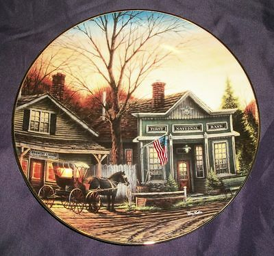 Terry Redlin OFFICE HOURS, Hadley House Country Doctor Collector Plate 1995