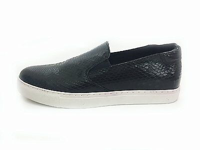 Kenneth Cole Kit Sy Womens Leather Loafer Sneaker, Black ws01 m01