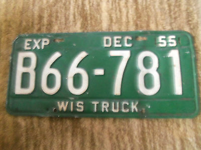1955  Wisconsin  License Plate Truck   1955 Chevrolet 1955 Ford ?
