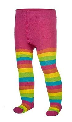 Baby GIRLS Cotton Mix Tights Leg Warmers 0 - 36 Months & 3 - 6 Years Rainbow