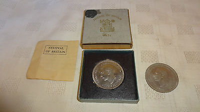 Festival Of Britain Proof Crown Coin 1951 With Original Box And Coa & Another