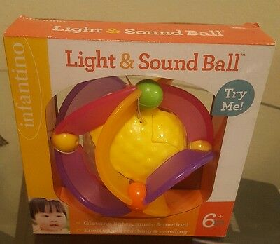 Infantino Light and Sound Ball Musical Toy Retired by Manufacturer NIB