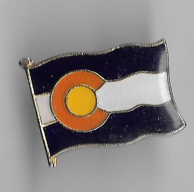 Vintage Colorado State Flag b2 old enamel pin