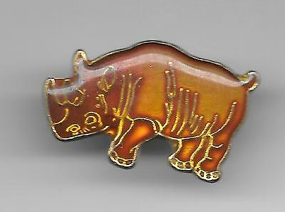 Vintage Rhinoceros b2 old enamel pin