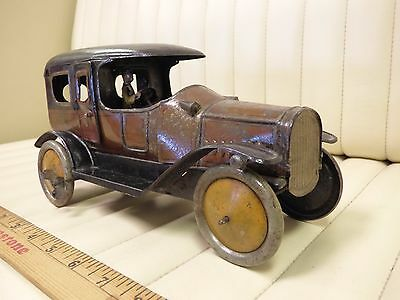 1915 FISCHER Tin Toy Limo Limousine Wind Up Germany Original