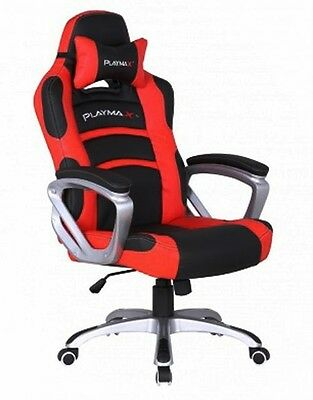 Playmax Gaming Chair (Red and Black)