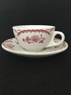 Vintage Shanango China Chardon Rose Restaurant Ware Cup & Saucer - 47 Available!