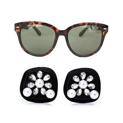 Breakfast Tiffanys Black Earrings Cat Eye Sunglasses Audrey Hepburn Costume
