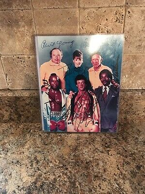 Sylvester Stallone, Mr. T + 4 Cast of Rocky III Signed 8x10 Autograph Print