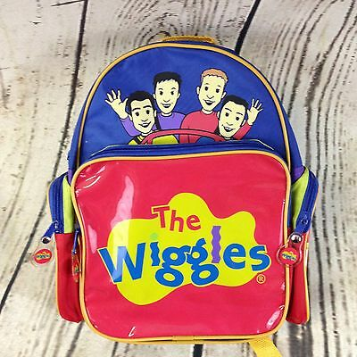 Original 2008 The Wiggles Children's Toddler Backpack Blue Red Yellow