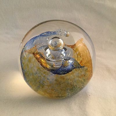 """Caithness Paperweight """"Cosmos- Style One"""""""