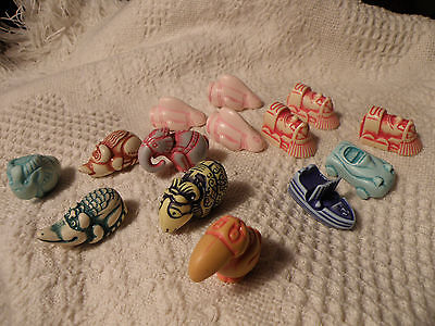Kinder Surprise Stone Figures Gnomes/animals Lot Of 14 Figures Great Collection