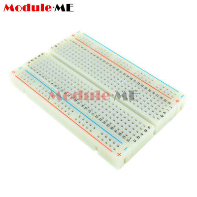 5PCS Mini Universal Solderless Breadboard 400 Contacts Tie-points Available UK