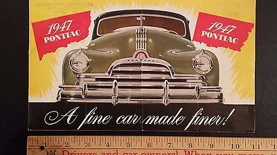 1947 PONTIAC  - Color Dealer Sales Folder Brochure (CDN)