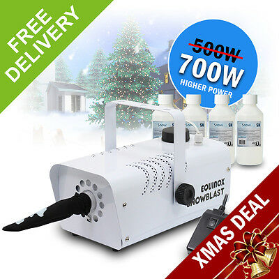 Christmas Snow Maker Storm Winter Blizzard Effect Machine 700w *20L Fluid*