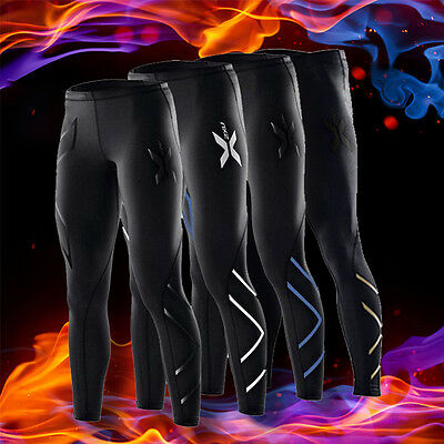 New Mens 2XU Black, Silver, Gold, Compression Pants Tights Gym Sports Skins #RY