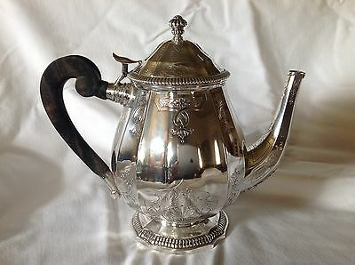 French .950 Sterling Silver Teapot - Puiforcat Elysee Regence Style Chasing