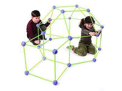 Crazy Forts Purple 69-Pieces Building Fun Structures Portable Collaborative Play