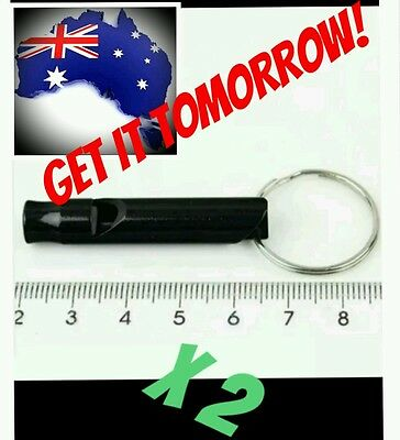 RAPE Whistle X 2 Loud&High pitched Alarm 4 Woman on Keychain Anodized Aluminium