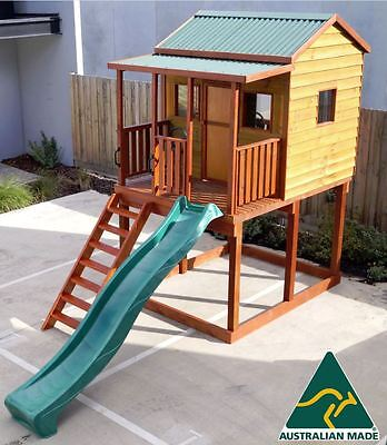 Emerald Plus Outdoor Wooden Timber Kids Cubby House Australian Made & Quality