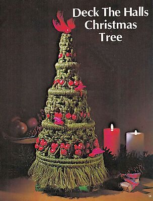 Vtg Macrame XMAS STOCKING TREE CANDY CANE JEWELRY SANTA WREATH PLACE MAT PATTERN