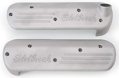 Edelbrock Coil Covers Chev Ls1 Series Signature Series Cast Finish - Ed4118