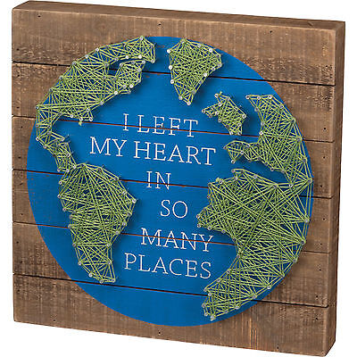 String Art:  I Left My Heart in So Many Places