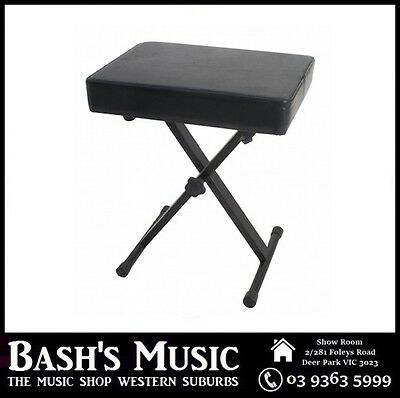 XTREME Piano Bench Stool Adjustable Extra Padding Heavy duty construction NEW