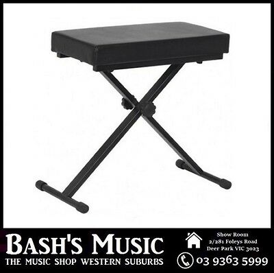 XTREME Piano Bench Stool Adjustable Extra Padding Heavy duty Double NEW